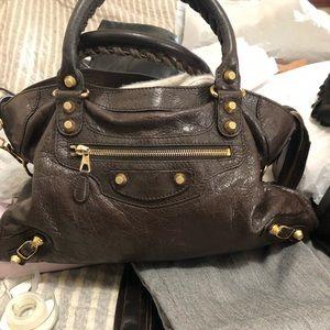 Balenciaga handbag dark brown